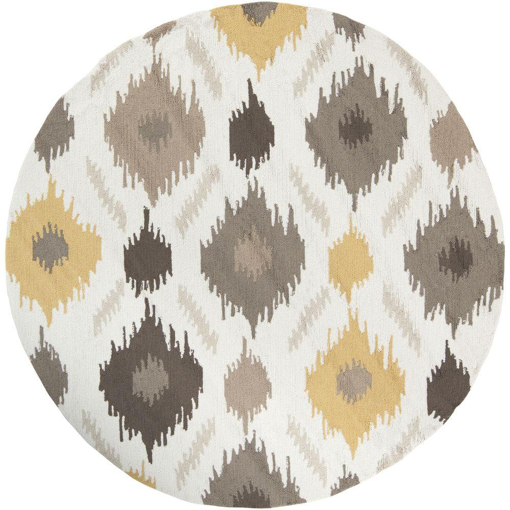 Artistic Weavers Olivos Yellow 3 Ft. X 3 Ft. Round Indoor Area Rug