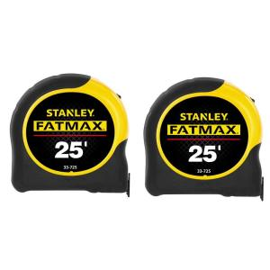 Stanley 25 ft. FATMAX Tape Measure (2-Pack)-FMHT74038D - The Home Depot