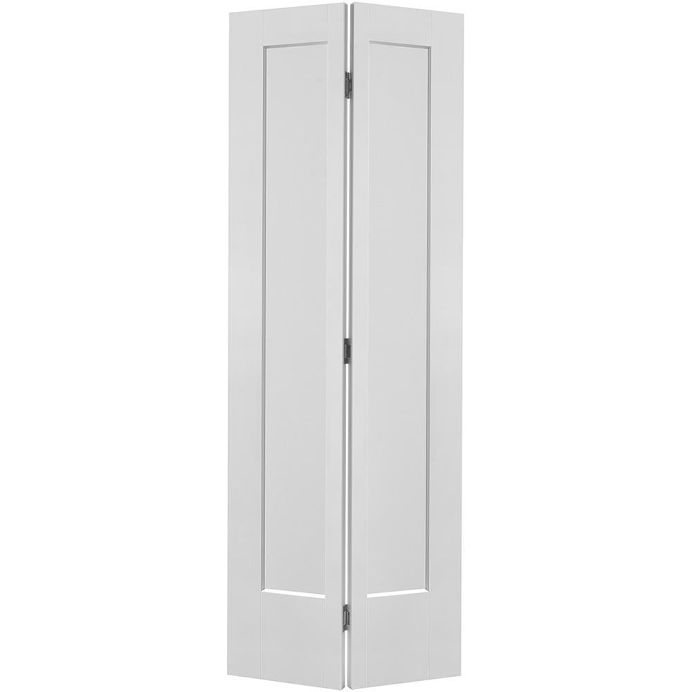Masonite 36 in. x 80 in. Lincoln Park 2-Panel Primed White Hollow-Core Composite Bi-fold Door