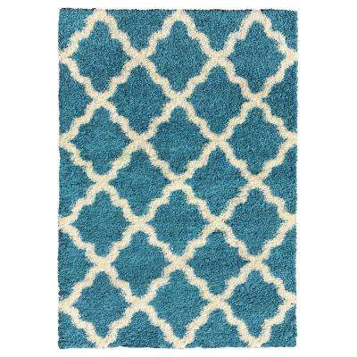 Bella Collection Turquoise 6 ft. 7 in. x 9 ft. 3 in. Area Rug