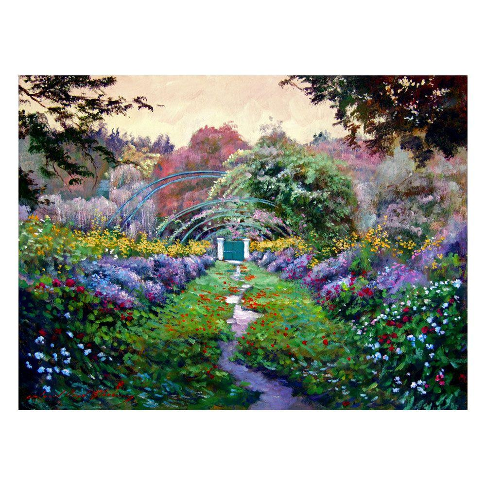 Trademark Fine Art 24 in. x 32 in. Monets Giverny Canvas Art