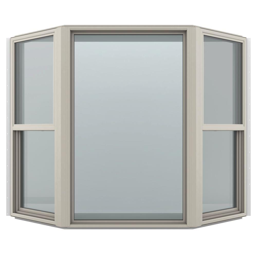 73.5 in. x 43 in. V-4500 Series Bay Vinyl Window - Brown