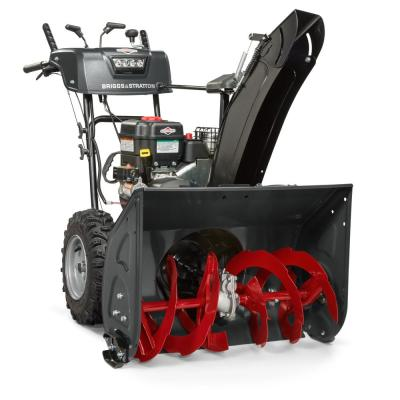 Steerable 27 in. 2-Stage Gas Snow Blower with Electric Start