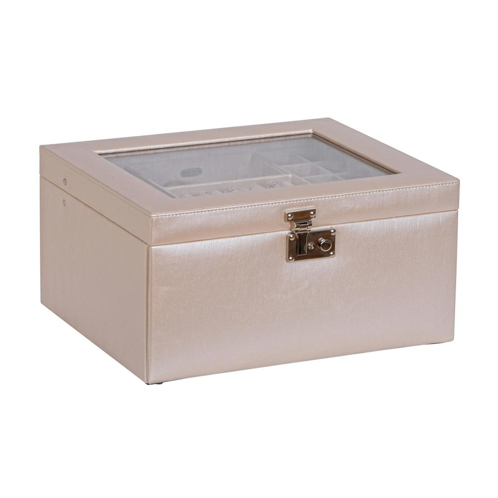 Mele Linden Pearl Faux Leather Jewelry Box0063230 The Home Depot