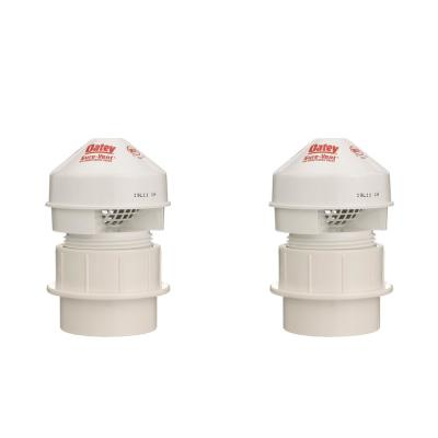 Sure-Vent 1-1/2 in. PVC Air Admittance Valve with 20 DFU Branch and 8 DFU Stack (2-Pack)