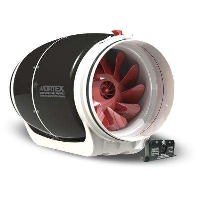 S-Line 8 in. 711 CFM Inline Fan with Current Sensor