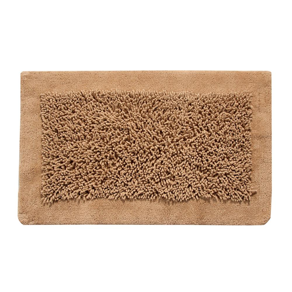 2-Piece Bath Rug Set Cotton and Chenille 24 in. x 17