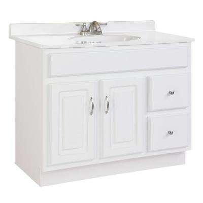 Concord 36 in. W x 21 in. D Unassembled Vanity Cabinet Only in White Gloss