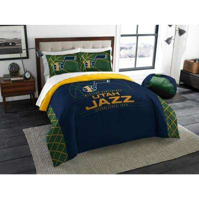 Jazz 3-Piece Multi Color Polyester Reverse Slam Full and Queen Comforters Set