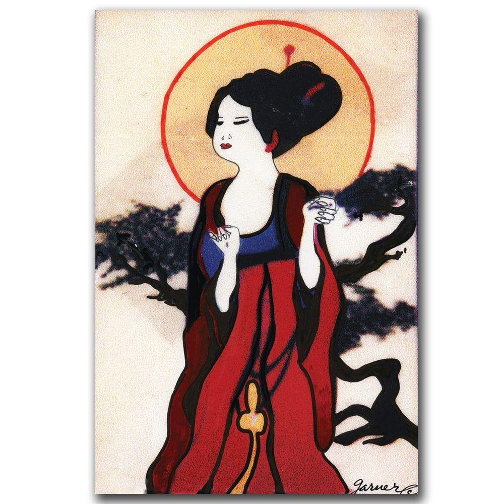 null 22 in. x 32 in. Japanese Woman Canvas Art