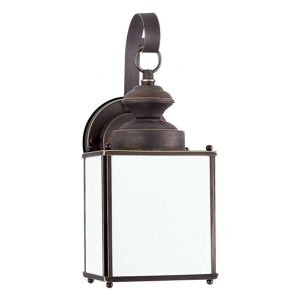Jamestowne 1-Light Antique Bronze Outdoor Wall Fixture