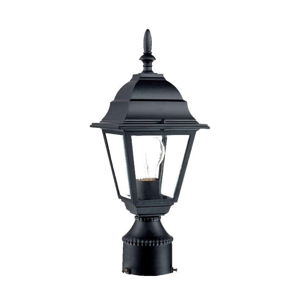 Builder's Choice 1-Light Matte Black Outdoor Post-Mount Fixture