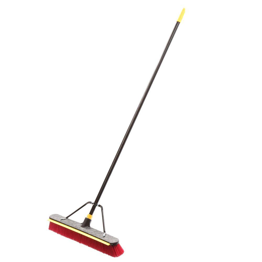 Quickie 2-in-1 Squeegee Push Broom