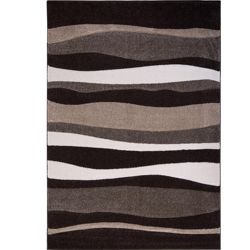 Bazaar Zag Dark Brown 8 Ft X 10 Indoor Area Rug