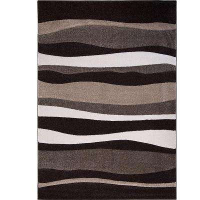 Bazaar Zag Dark Brown 8 ft. x 10 ft. Indoor Area Rug