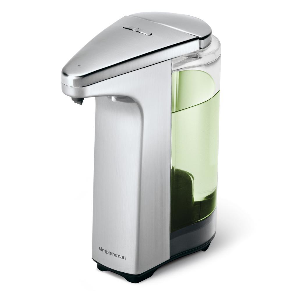 8 fl. oz. Compact Brushed Nickel Sensor Pump for Soap Lotion or Sanitizer