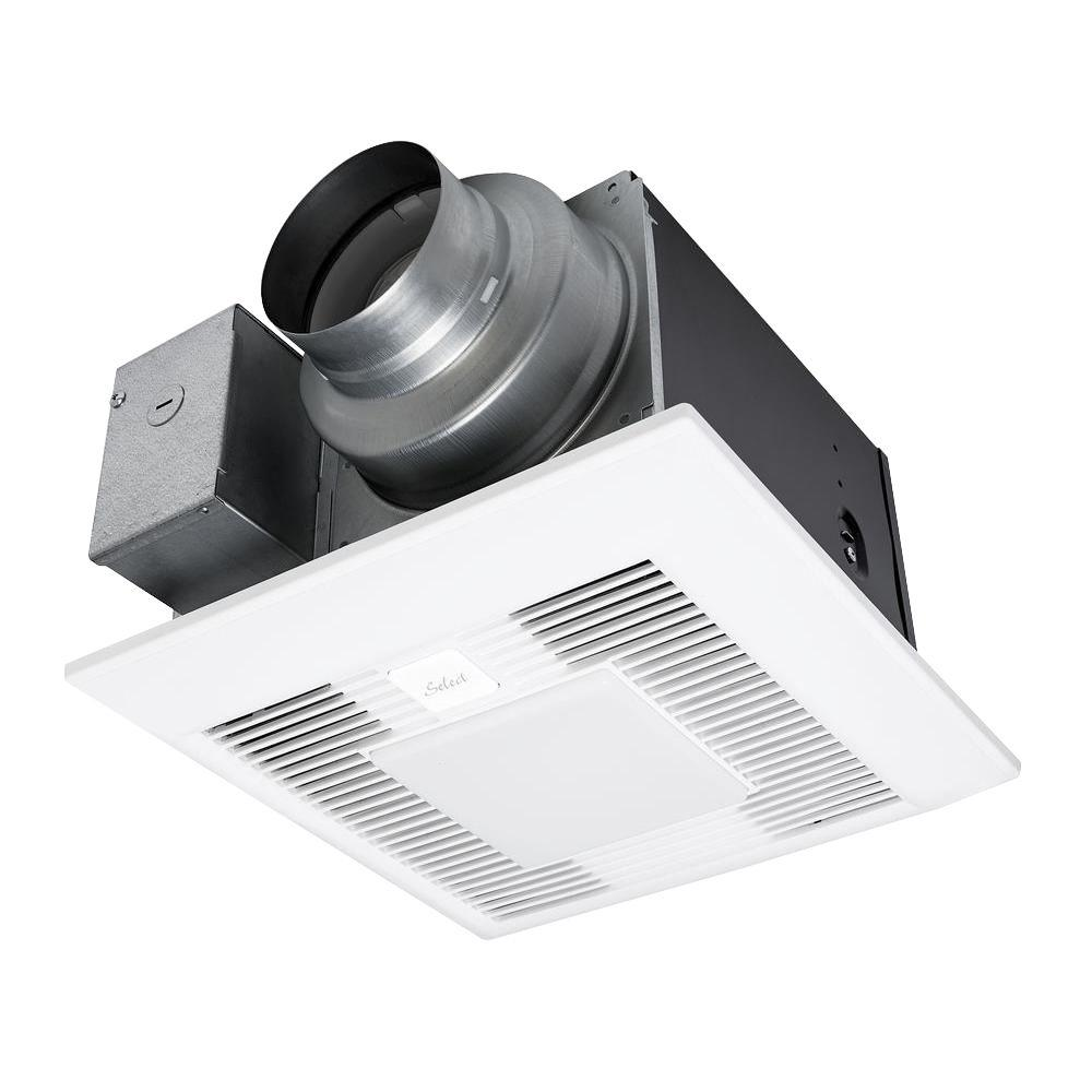 Kitchen Ceiling Exhaust Fan With Light: Panasonic Whisper Green Select 50/80/110 CFM Ceiling
