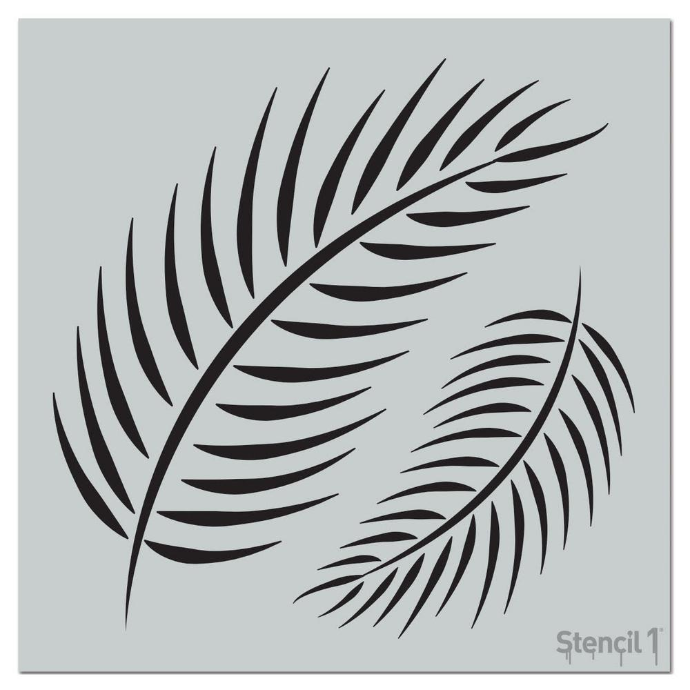 Stencil1 Palm Fronds Repeat Pattern Stencil