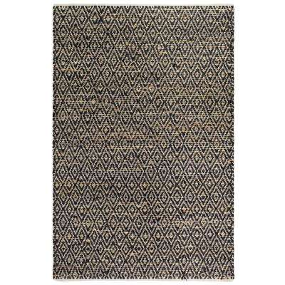 Madera - Black & Natural (3' x 5') - Jute/ Cotton