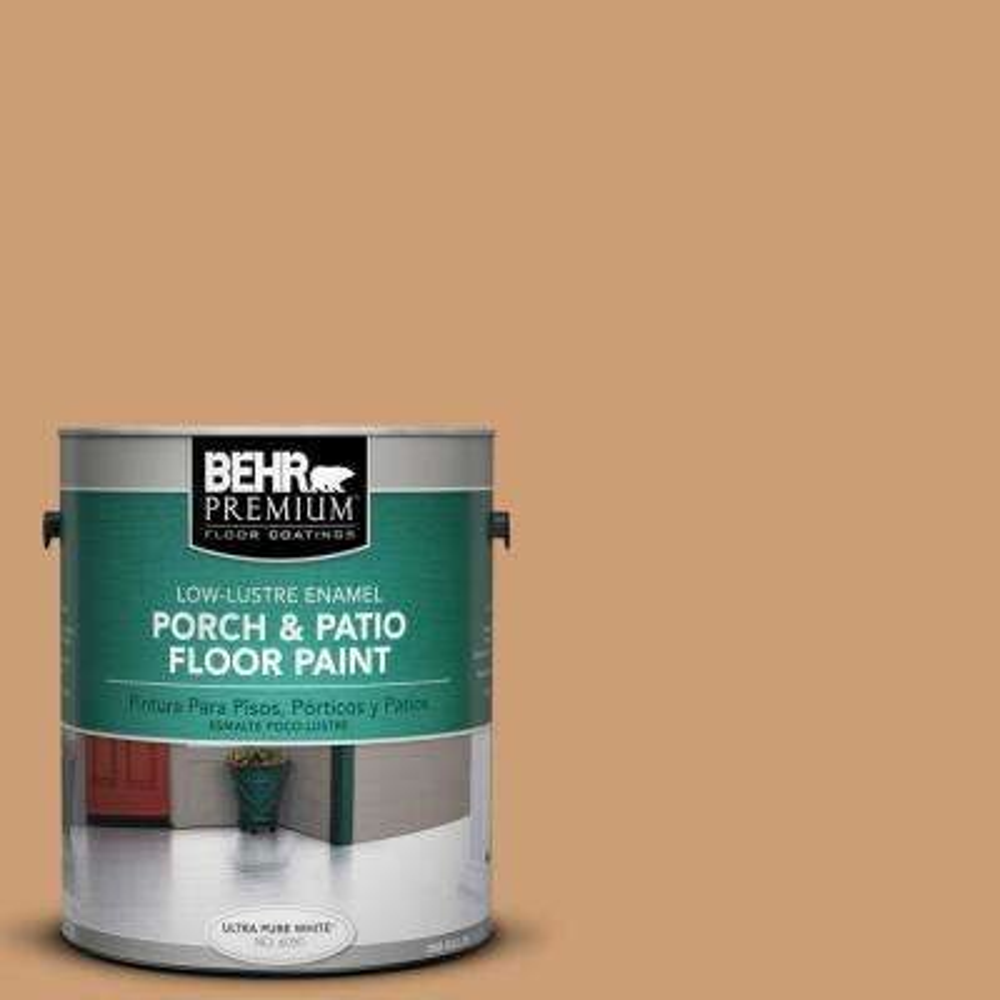 1 gal. #S250-4 Fresh Croissant Low-Lustre Porch and Patio Floor Paint