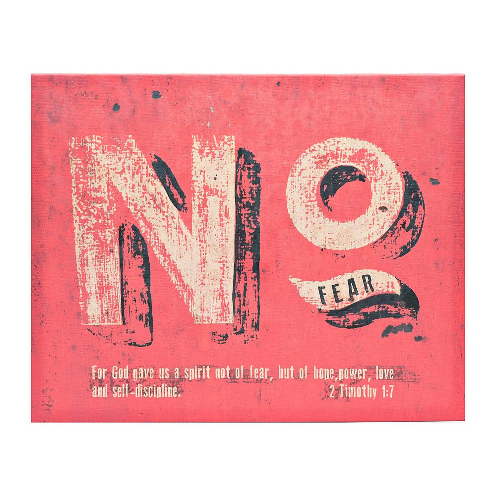 "The Canvas Collection ""No Fear"" Canvas by Carpentree Printed Canvas Wall"
