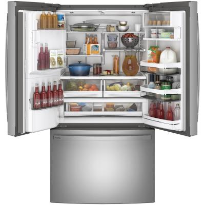 Profile 27.7 cu. ft. French Door Refrigerator with Autofill in Fingerprint Resistant Stainless Steel, ENERGY STAR