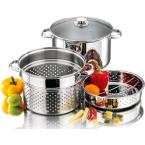 undefined 4-Piece Stainless Steel 8 Qt. Stockpot Set