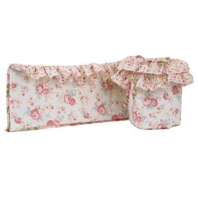 Tea Party Cotton 4 Sectional Crib Bumper Pads