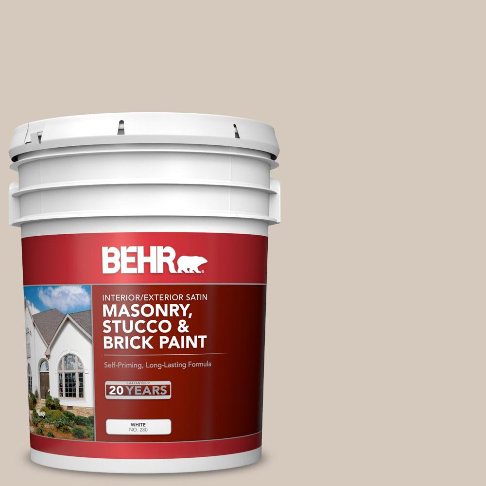 BEHR 5 gal. #N230-2 Old Map Satin Interior/Exterior Masonry, Stucco and Brick Paint