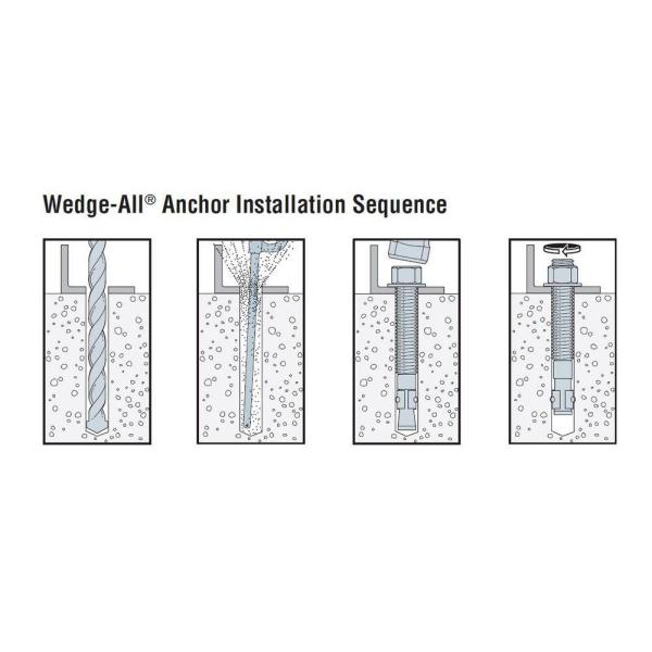 20 per Box Simpson Strong Tie WA627004SS Wedge-All Anchor 304SS 7 by 5//8 Diameter