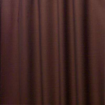Poly Shower Curtain Liner in Chocolate