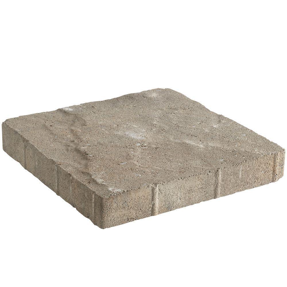 Pavestone 12in Tuscan 11.81 in. x 11.81 in. x 1.75 in. Fieldstone Concrete Step Stone