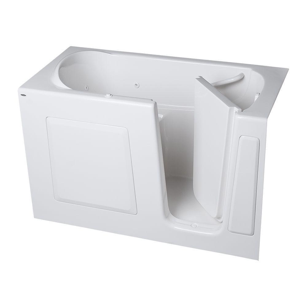 American Standard Gelcoat Standard Series 60 in. x 30 in. Right Hand Walk-In Whirlpool Tub in White