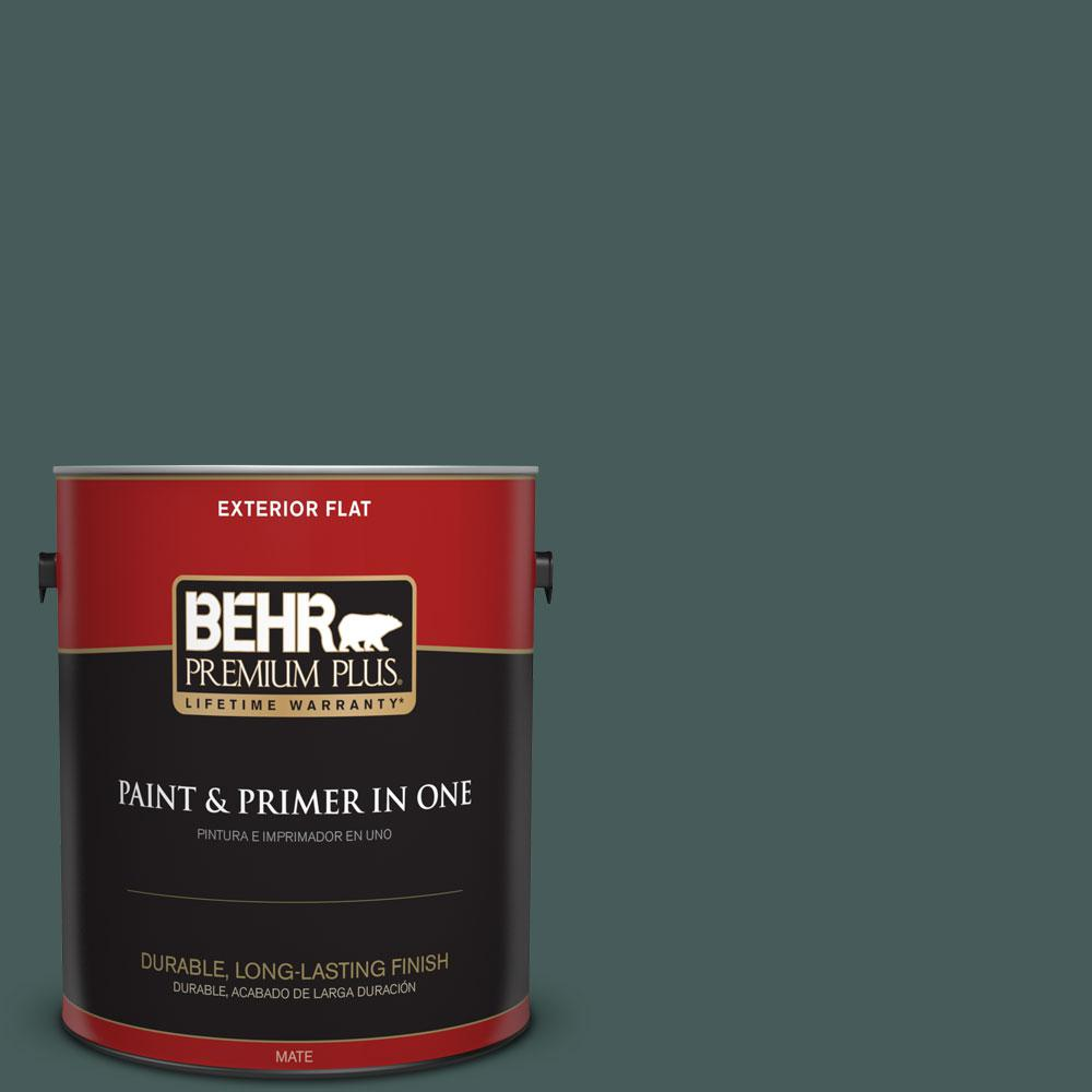1-gal. #490F-7 Jungle Green Flat Exterior Paint