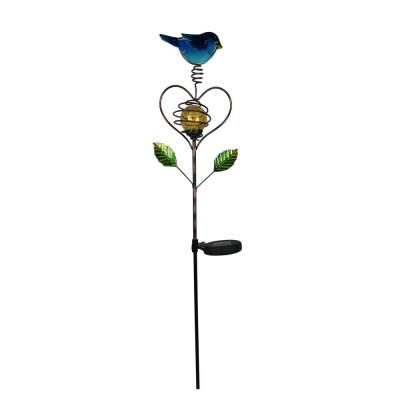 Happy Bluebird Solar Stake Light
