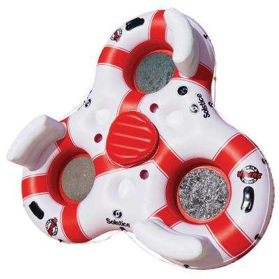 81 in. White/Red Super Chill Tube Triple Float