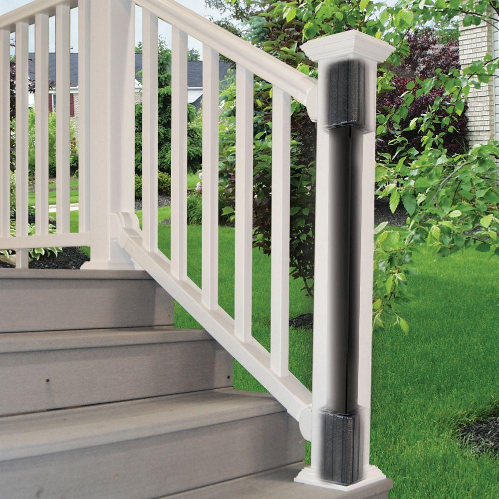 """Code Requirements For Decks: Post Install 36"""" Aluminum-Stainless Steel Rail Kit Durable"""