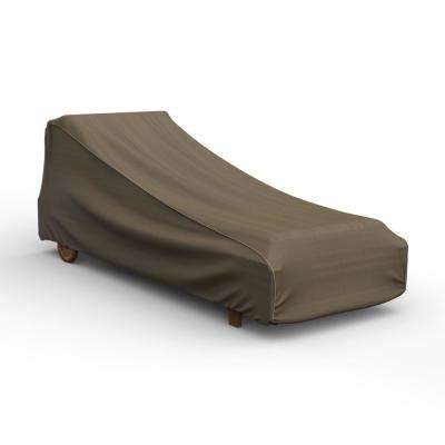 NeverWet Hillside Medium Black and Tan Single Patio Chaise Cover