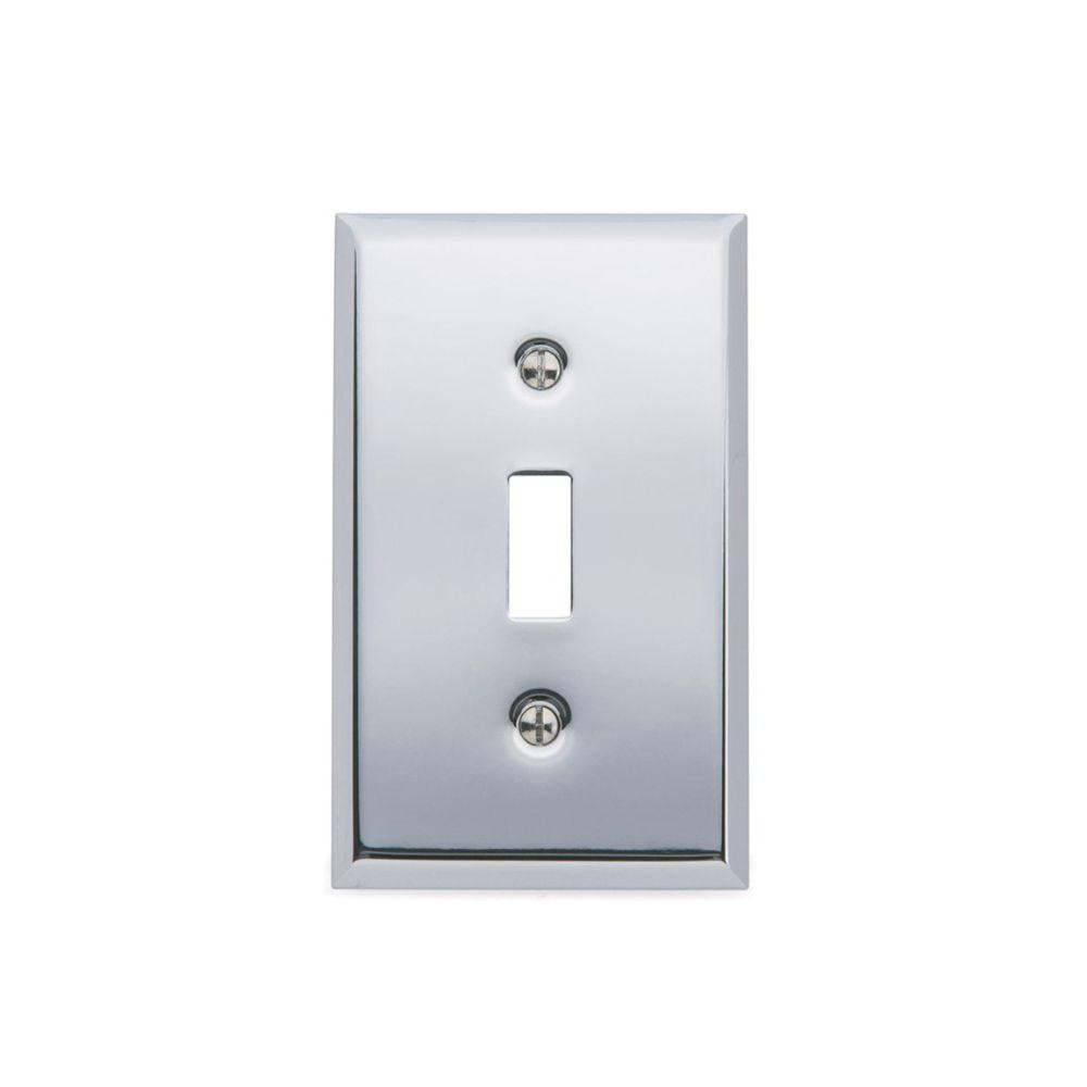 Beveled Edge 1 Toggle Wall Plate - Polished Chrome