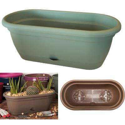 18 x 7.5 Living Green Lucca Plastic Self Watering Window Box