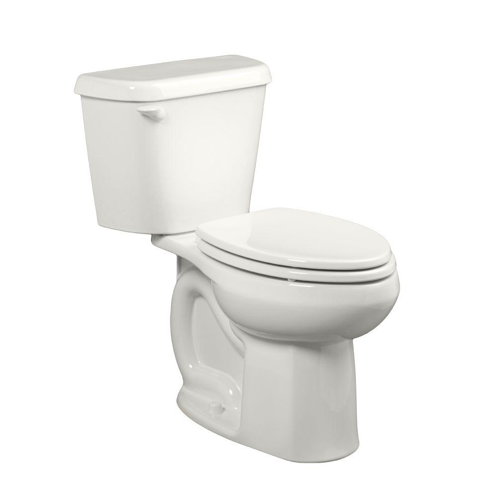 American Standard Colony 10 in. Rough-In 2-piece 1.6 GPF Single Flush Elongated Toilet in White, Seat Not Included