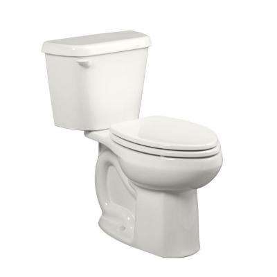 Colony 10 in. Rough-In 2-piece 1.6 GPF Single Flush Elongated Toilet in White, Seat Not Included