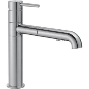 Trinsic Single-Handle Pull-Out Sprayer Kitchen Faucet In Arctic Stainless