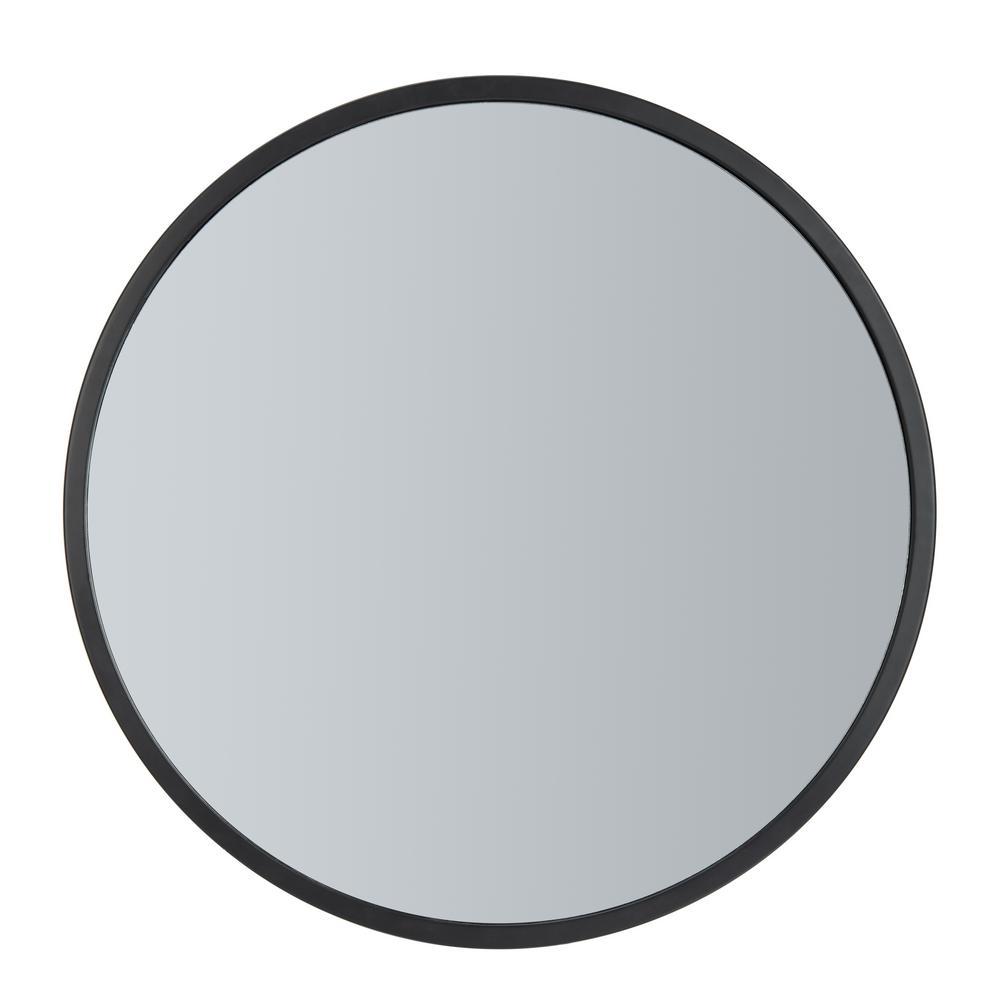 Eason 30 in. X 30 in. Black Framed Mirror
