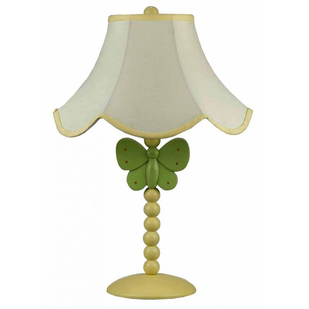 CAL Lighting Cooper 20 In. Green Butterfly Novelty Lamp