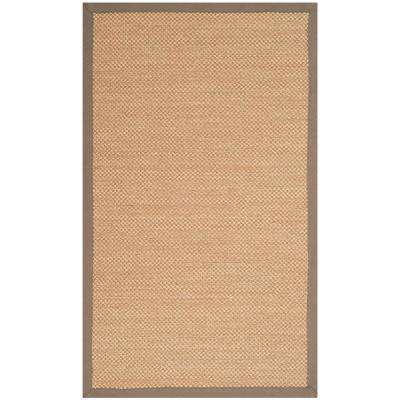 Natural Fiber Maize/Gray 3 ft. x 5 ft. Area Rug