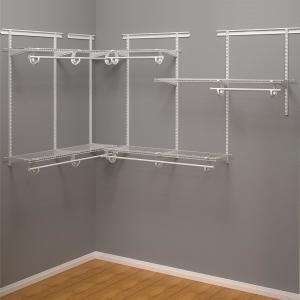 Shelftrack 12 in. D x 72 in. W x 84 in. H White Wire Adjustable Walk In Closet Kit
