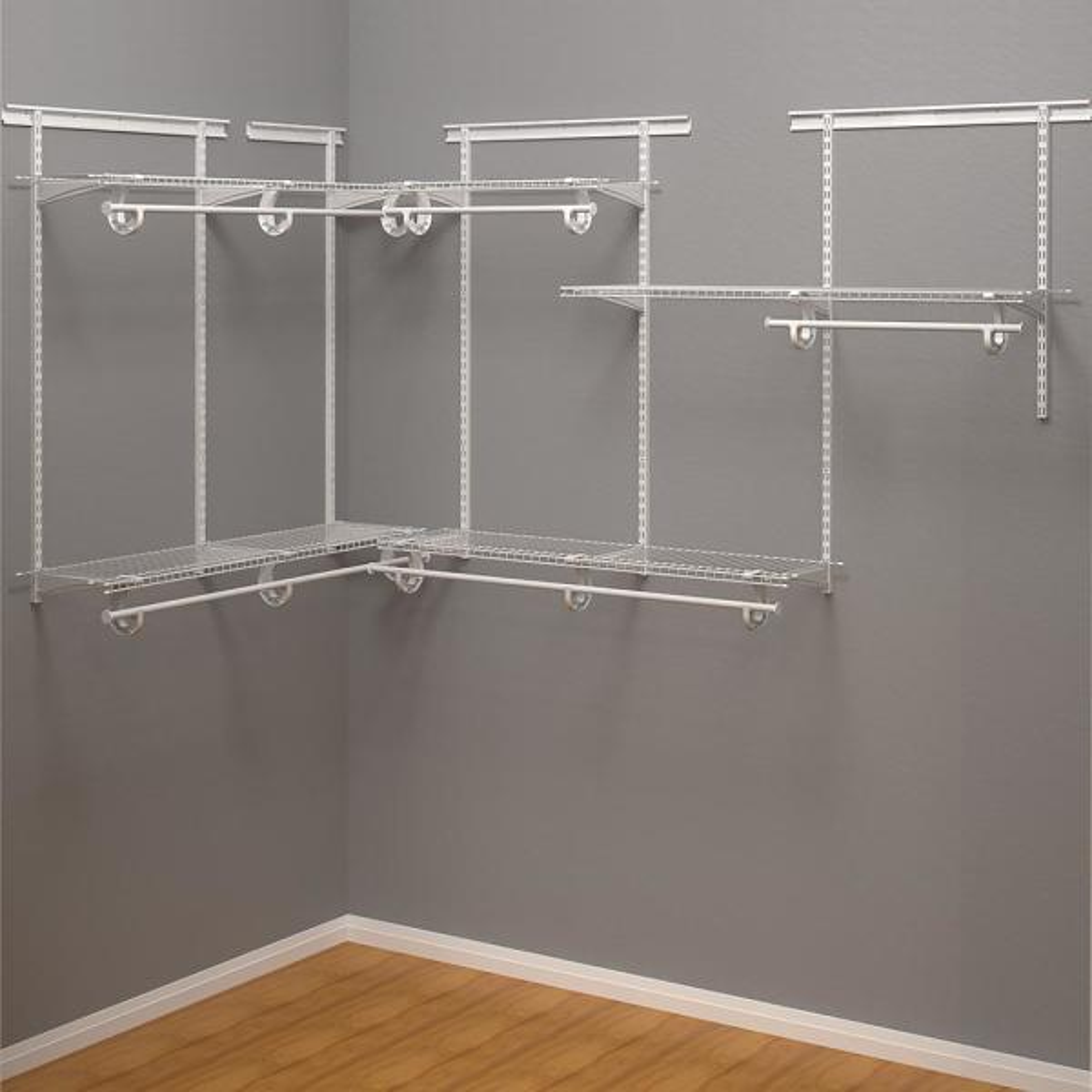Shelftrack 12 in. D x 72 in. W x 84 in. H White Wire Adjustable Walk In Closet Kit