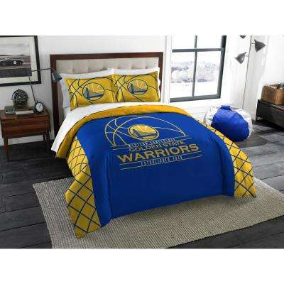 Warriors 3 Pc. Multi Color Polyester Reverse Slam Full and Queen Comforters Set