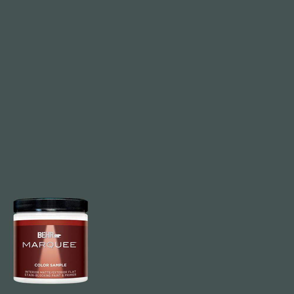 Mq6 44 Black Evergreen One Coat Hide Matte Interior Exterior Paint And Primer In Sample
